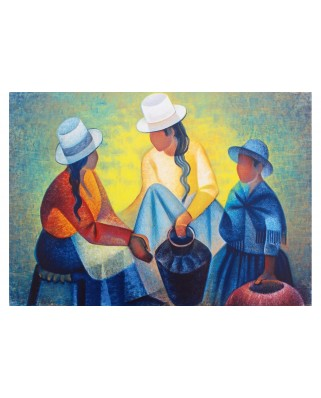 Puzzle 1000 piese - Toffoli Louis: Femmes a la Potiche Bleue, 1977 (Art-by-Bluebird-60140)