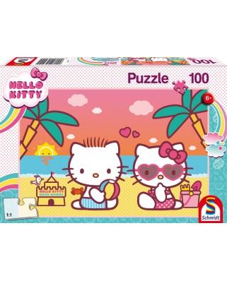 Puzzle 100 piese - Distractie La Plaja Cu Kitty (Schmidt-56409)