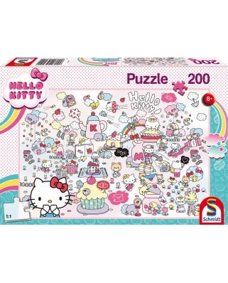 Puzzle 200 piese - Lumea Lui Kitty (Schmidt-56410)