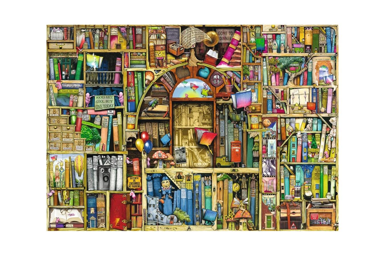 Puzzle Ravensburger - Colin Thompson: Libraria Bizara 2, 1.000 piese (19314)