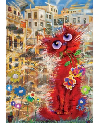 Puzzle 260 piese - Red Cat (Art-Puzzle-4582)