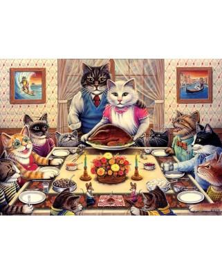 Puzzle 260 piese - Cat Family (Art-Puzzle-5025)