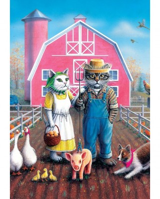 Puzzle 260 piese - Cat Farm (Art-Puzzle-5028)