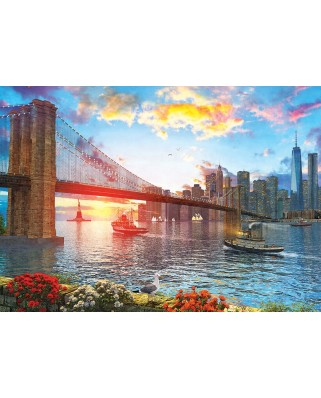 Puzzle 1000 piese - Sunset in New York (Art-Puzzle-5185)
