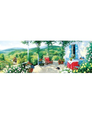 Puzzle 1000 piese panoramic - The Guest on the Veranda (Art-Puzzle-5349)