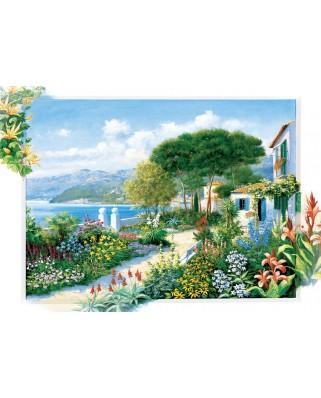 Puzzle 1500 piese - Coastline Town (Art-Puzzle-5370)