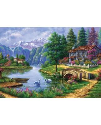 Puzzle 1500 piese - Lake Village (Art-Puzzle-5371)