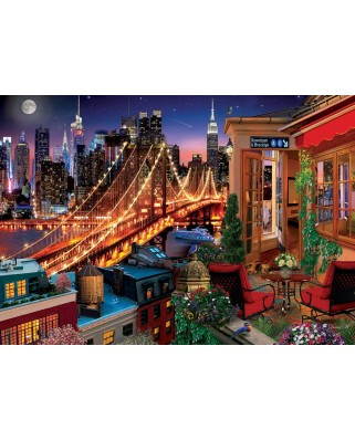 Puzzle 1500 piese - Terrace Brooklyn (Art-Puzzle-5376)
