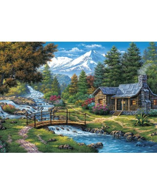 Puzzle 2000 piese - Two Small Waterfalls (Art-Puzzle-5471)