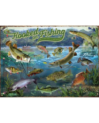Puzzle 1000 piese - Hooked on Fishing (Cobble-Hill-80319)