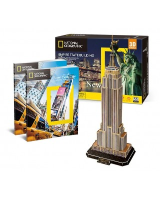 Puzzle 3D cu 66 piese - Empire State Building (Difficulty 6/8) (Cubic-Fun-DS0977h)