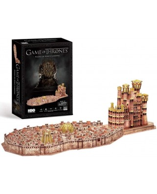 Puzzle 3D cu 262 piese - Game of Thrones - King's Landing (Cubic-Fun-DS0987H)