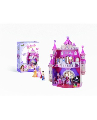 Puzzle 3D cu 95 piese - Princess Birthday Party (Cubic-Fun-E1622H)
