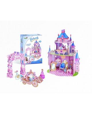 Puzzle 3D cu 92 piese - Princess Secret Garden (Cubic-Fun-E1623H)