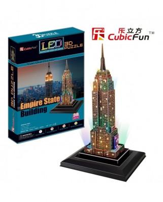 Puzzle 3D cu 38 piese - Empire State Building (Cubic-Fun-L503H)