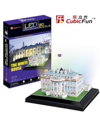 Puzzle 3D cu 56 piese - Washington: The White House (Cubic-Fun-L504H)