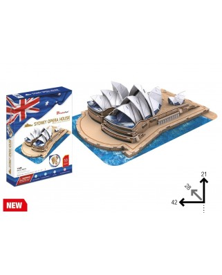 Puzzle 3D cu 58 piese - Sydney Opera House (Difficulty 4/6) (Cubic-Fun-MC217h)