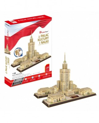Puzzle 3D cu 144 piese - Palace of Culture and Science (Cubic-Fun-MC224H)
