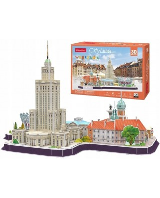 Puzzle 3D cu 159 piese - Cityline Warsaw (Cubic-Fun-MC271H)