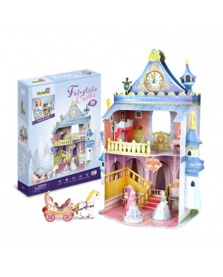 Puzzle 3D cu 81 piese - Fairytale Castle (Cubic-Fun-P809H)