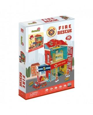Puzzle 3D cu 89 piese - Fire Rescue (Cubic-Fun-P813H)
