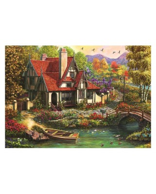 Puzzle 500 piese - Cottage by the Lake (Dino-50251)