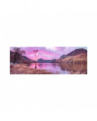 Puzzle 6000 piese panoramic - Lake in the Mountain (Dino-56512)