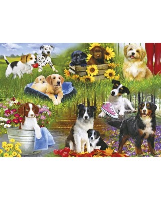 Puzzle 500 piese - Playful Pups (Gibsons-G3129)