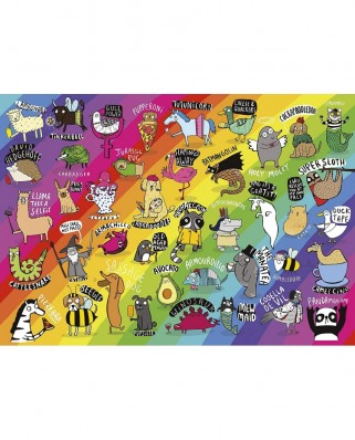 Puzzle 500 piese - Punimals (Gibsons-G3602)