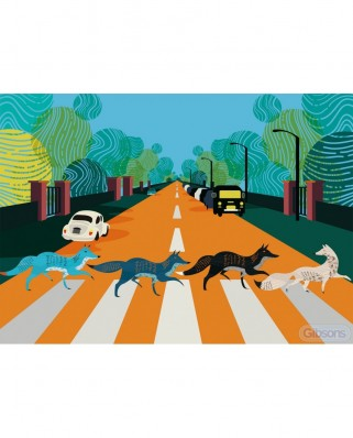 Puzzle 500 piese - Abbey Fox Road (Gibsons-G3605)