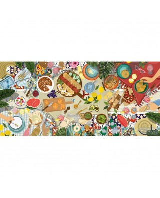 Puzzle 636 piese panoramic - Dreamtime Picnic (Gibsons-G4600)