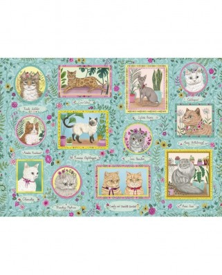 Puzzle 1000 piese - Famous Felines (Gibsons-G6603)