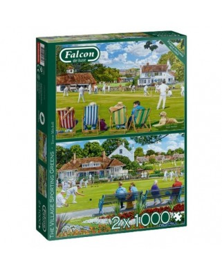 Puzzle 2x1.000 piese - The Village Sporting Greens (Jumbo-11309)
