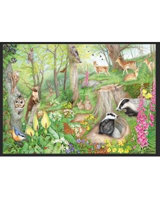 Puzzle 1000 piese din lemn - Woodland Wildlife (Jumbo-11322)