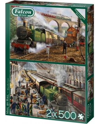Puzzle 2x500 piese - Mail by Rail (Jumbo-11331)