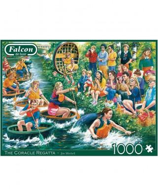 Puzzle 1000 piese - The Coracle Regatta (Jumbo-11338)