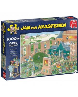 Puzzle 1000 piese - Jan Van Haasteren: The Art Market (Jumbo-20022)