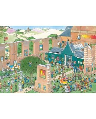 Puzzle 2000 piese - Jan Van Haasteren: The Art Market (Jumbo-20023)