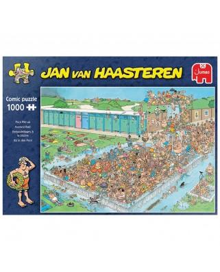 Puzzle 1000 piese - Jan Van Haasteren: Pool Pile-Up (Jumbo-20039)