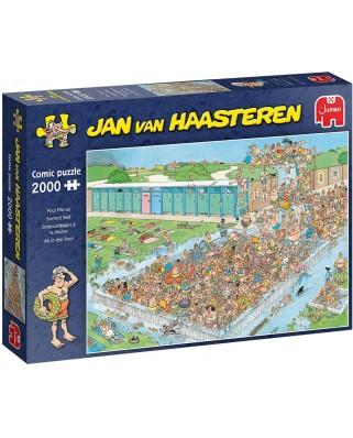 Puzzle 2000 piese - Jan Van Haasteren: Pool Pile-Up (Jumbo-20040)
