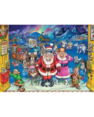 Puzzle 2x1.000 piese - Wasgij Christmas 17 - Elf Inspection (Jumbo-25003)