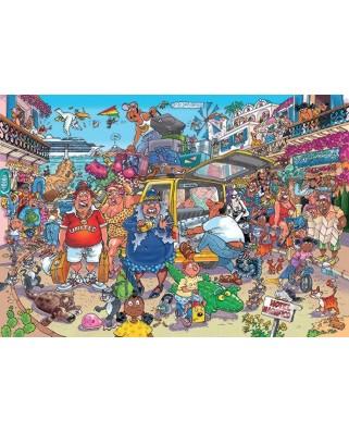 Puzzle 1000 piese - Wasgij Original 37 - Holiday Fiasco (Jumbo-25004)