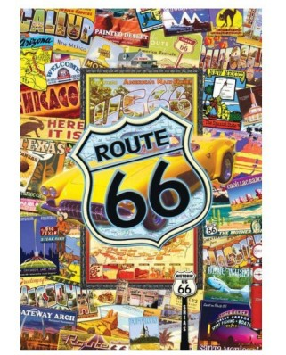 Puzzle 1000 piese mini - World's Smallest - Route 66 (Master-Pieces-31527)
