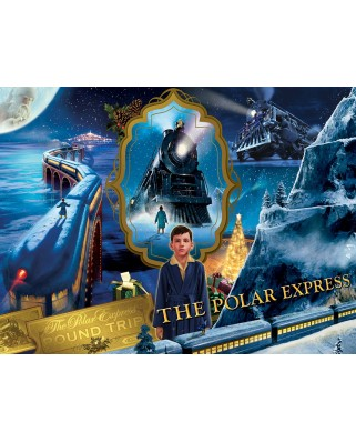 Puzzle 550 piese - The Polar Express Train (Master-Pieces-31727)