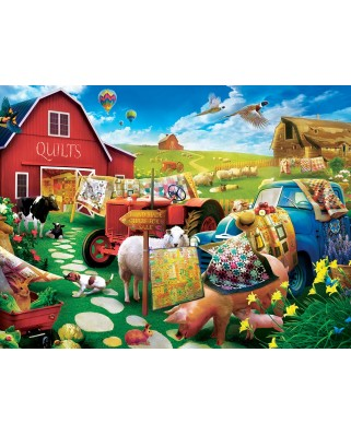 Puzzle 300 piese XXL - Quilt Country (Master-Pieces-32106)