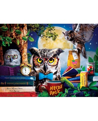 Puzzle 300 piese XXL - Night Owl Study Group (Master-Pieces-32151)
