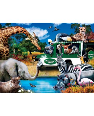 Puzzle 300 piese XXL - Watering Hole (Master-Pieces-32152)