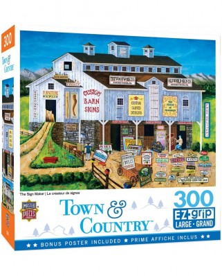 Puzzle 300 piese XXL - The Sign Maker (Master-Pieces-32155)