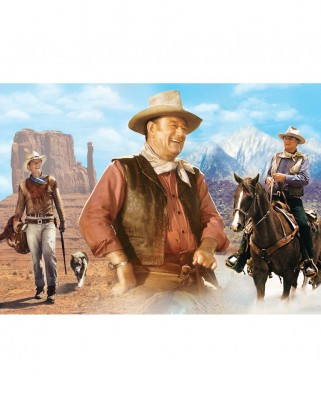 Puzzle 1000 piese - John Wayne - On the Trail (Master-Pieces-33639)