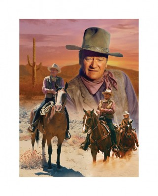 Puzzle 1000 piese - John Wayne - The Cowboy Way (Master-Pieces-71239)